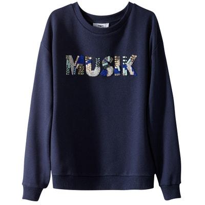Sweatshirt mit rundem Ausschnitt, Baumwolle SUNCOO