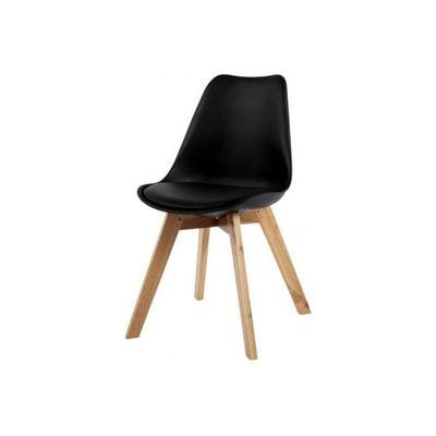 chaise design style scandinave noire esben chaise design style scandinave noire esben declikdeco - Ensemble Table Et Chaise Style Scandinave