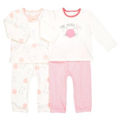 Lot de 2 pyjamas imprimés 0 mois- 3 ans Lot de 2 pyjamas imprimés 0 mois- 3 ans LA REDOUTE COLLECTIONS