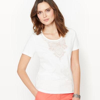 T-shirt in gekamd zuiver katoen ANNE WEYBURN