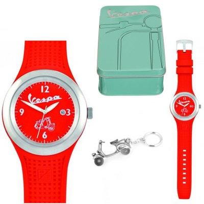 Coffret Cadeau Montre rouge Vespa Homme et porte-clés Coffret Cadeau Montre rouge Vespa Homme et porte-clés FORMIDABLES