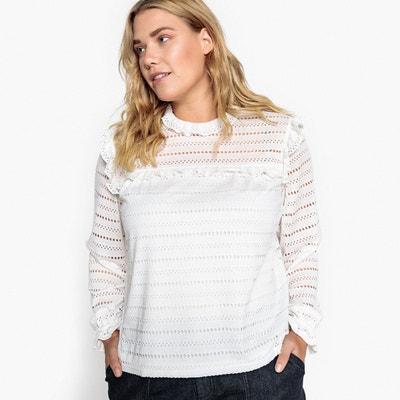 T-shirt effet blouse col montant, manches longues T-shirt effet blouse col montant, manches longues CASTALUNA