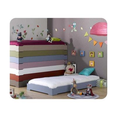pack lit enfant empilable 90x190 cm avec sommier et matelas ma chambre d enfant