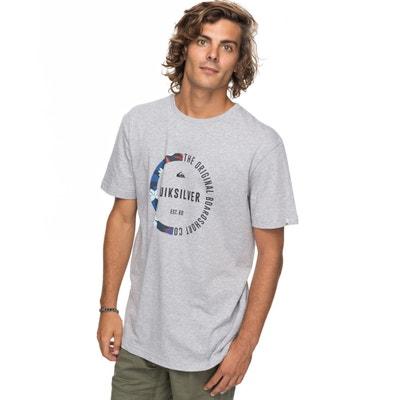 T-shirt con scollo rotondo fantasia, maniche corte T-shirt con scollo rotondo fantasia, maniche corte QUIKSILVER