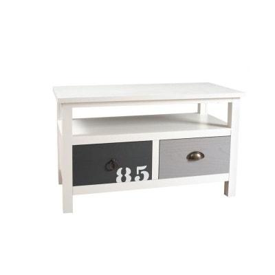 meuble tv 2 tiroirs blanc gris et taupe bois 80cm milo meuble tv 2 tiroirs blanc