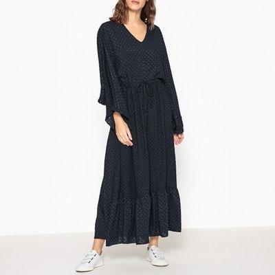 Vestido comprido com decote em V, ULISSE VALERIE KHALFON