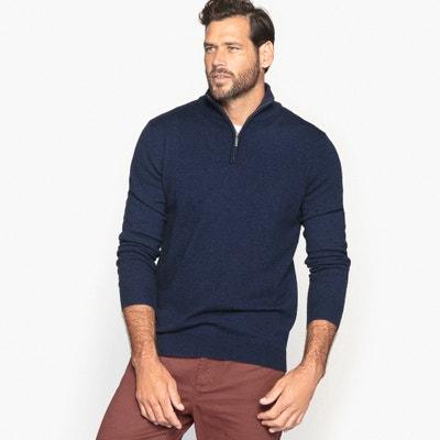 Jersey con cuello alto con cremallera, 50% lana Jersey con cuello alto con cremallera, 50% lana CASTALUNA FOR MEN