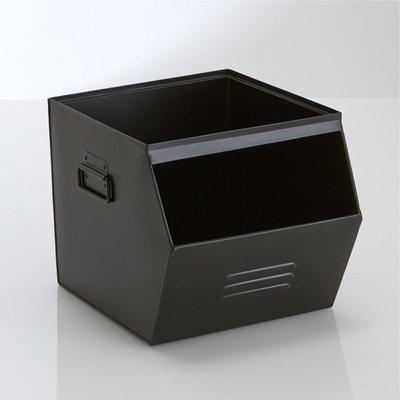 Caixa, empilhável, metal galvanizado, Hiba PEQUENOS PREÇOS
