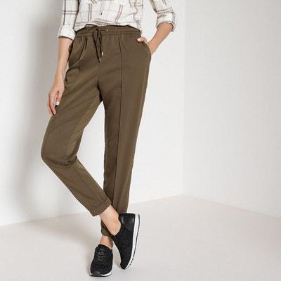 Pantalon droit, ceinture élastiquée dos Pantalon droit, ceinture élastiquée  dos ANNE WEYBURN. Soldes 2a5ea22b0656