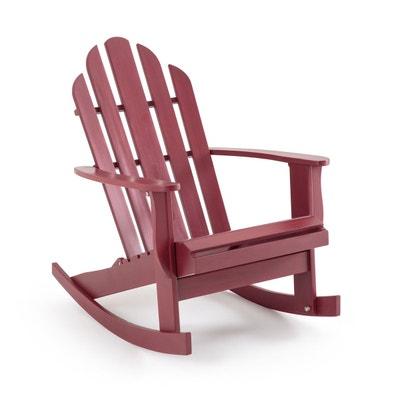 Rocking chair de jardin Théodore, style Adirondack Rocking chair de jardin Théodore, style Adirondack AM.PM