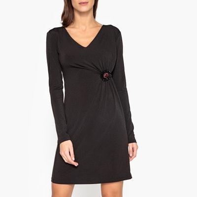 Langärmeliges Kleid mit seitlich drapierter Raffung Langärmeliges Kleid mit seitlich drapierter Raffung LIU JO