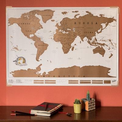 Carte du Monde à Gratter Scratch Map NATURE ET DECOUVERTES