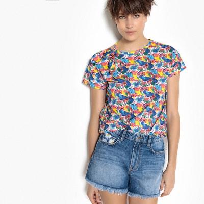T-shirt fantasia, scollo rotondo, maniche corte La Redoute Collections