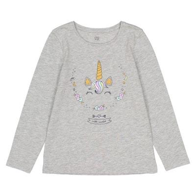 Long-Sleeved Unicorn T-Shirt, 3-12 Years Long-Sleeved Unicorn T-Shirt, 3-12 Years La Redoute Collections