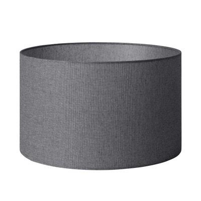 Abat-jour cylindrique Coton GARRET Gris Lin MADURA