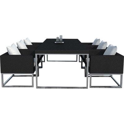 salon de jardin design 1 table 6 fauteuils salon de jardin design 1 table - Salon Jardin Design