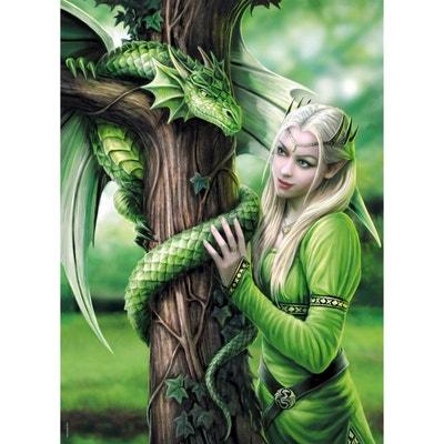 Puzzle 1000 pièces : Anne Stokes : Esprits connectés Puzzle 1000 pièces : Anne Stokes : Esprits connectés CLEMENTONI