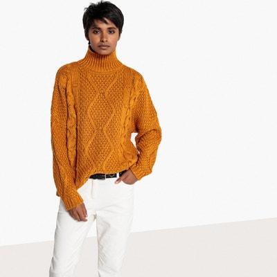 Sweter w plecione warkocze, golf Sweter w plecione warkocze, golf La Redoute Collections