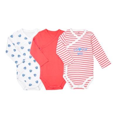 Lote de 3 bodies recém-nascido, prematuro - 2 anos, Oeko Tex Lote de 3 bodies recém-nascido, prematuro - 2 anos, Oeko Tex La Redoute Collections