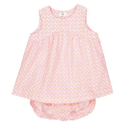 Conjunto de bebé, vestido e calções, 0 mês - 3 anos La Redoute Collections