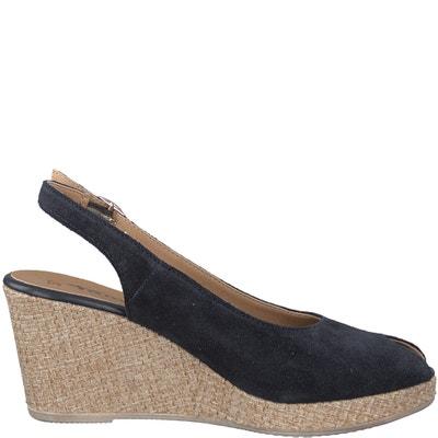 Sandali in pelle con tacco a zeppa Giove TAMARIS