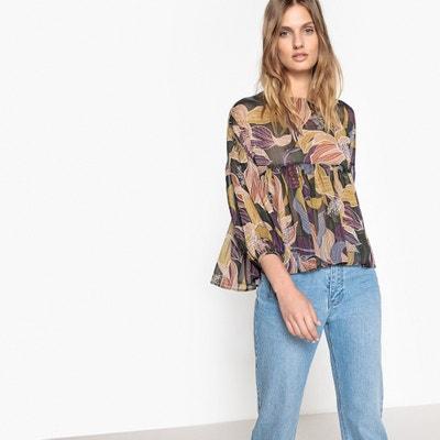 Bedrukte blouse met ronde hals en lange mouwen LES PETITES BOMBES
