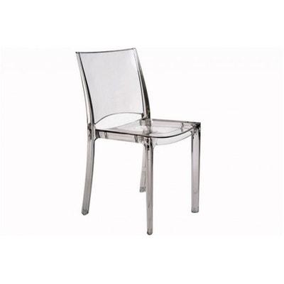 Chaise transparente et bois