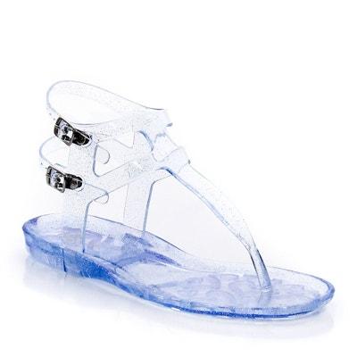 Sandales spartiates à entredoigt plastique transpa Sandales spartiates à entredoigt plastique transpa La Redoute Collections