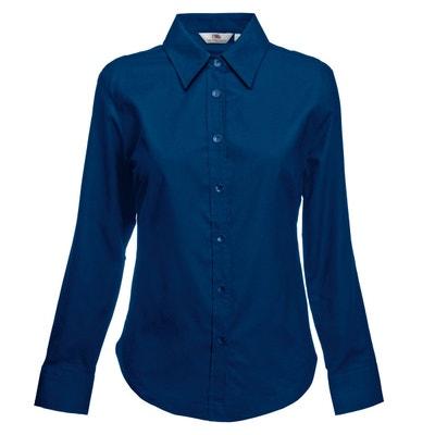Chemise bleu marine femme en solde   La Redoute f04b306a2078