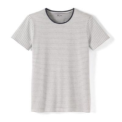 Crew Neck Striped Cotton T-Shirt Crew Neck Striped Cotton T-Shirt La Redoute Collections