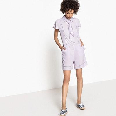 Combinaison courte col chemise manches courtes MADEMOISELLE R