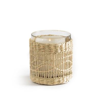 Porta-candela in vetro e intreccio KÉZIA Porta-candela in vetro e intreccio KÉZIA La Redoute Interieurs