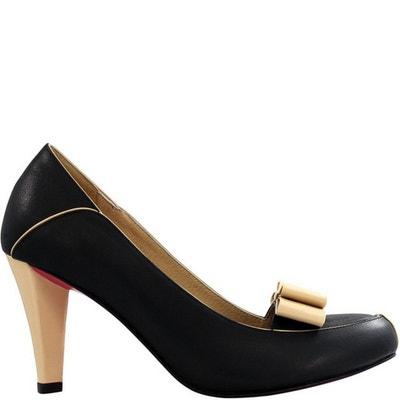 Chaussure femme en cuir BOW HIGHT Chaussure femme en cuir BOW HIGHT PRING  PARIS aee931f0552c
