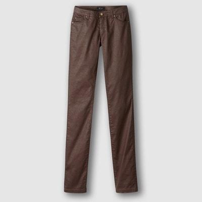 Rechte broek met 5 pockets in gecoat stretch katoen Rechte broek met 5 pockets in gecoat stretch katoen La Redoute Collections