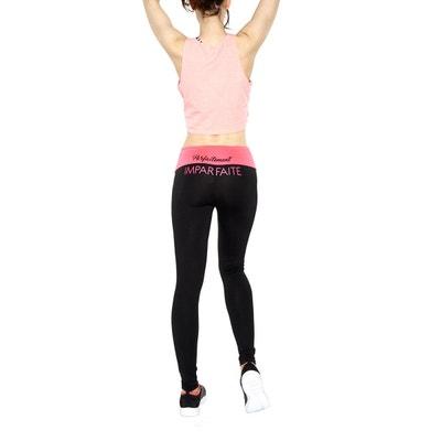39e78105df964 Leggings Sport Ceinture Rétractable Avec Slogan   Parfaitement Imparfaite COLLANTS  LAUVE