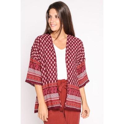 Kimono manches courtes imprimé Kimono manches courtes imprimé CACHE-CACHE