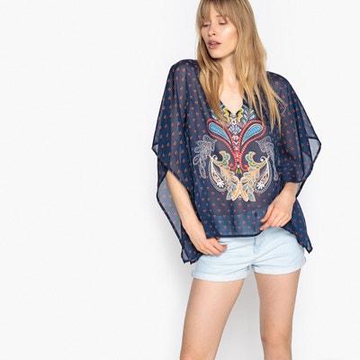 Bluse im Kaftan-Stil, Einzelmotiv La Redoute Collections