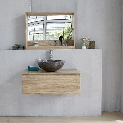meuble de salle de bain en bois dhva suspendu 80 meuble de salle de