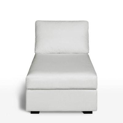 Longchair in leer, uitstekend comfort, Robin La Redoute Interieurs
