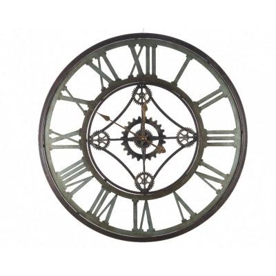 Horloge murale en métal style industriel D80cm PIER IMPORT
