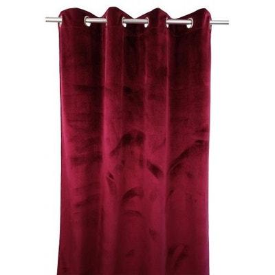 rideaux velours rouge en solde la redoute. Black Bedroom Furniture Sets. Home Design Ideas