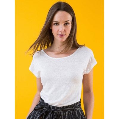 cd470ade1ee6e T-shirt femme jersey de lin forme tunique, LAME T-shirt femme jersey.  SOMEWHERE