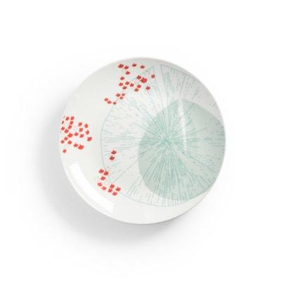 AKINA Set of 4 Porcelain Dessert Plates AKINA Set of 4 Porcelain Dessert Plates La Redoute Interieurs