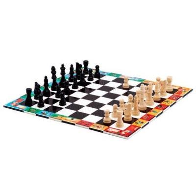 Jeu d'échecs et dames en bois Jeu d'échecs et dames en bois DJECO