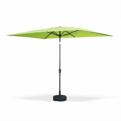 Parasol droit Touquet rectangulaire 2x3m Vert Pomme, mât central aluminium orientable et manivelle d'ouverture Parasol droit Touquet rectangulaire 2x3m Vert Pomme, mât central aluminium orientable et manivelle d'ouverture ALICE S GARDEN