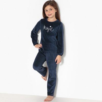 Pijama con 2 prendas de terciopelo y estampado magia, 3-12 años Pijama con 2 prendas de terciopelo y estampado magia, 3-12 años La Redoute Collections