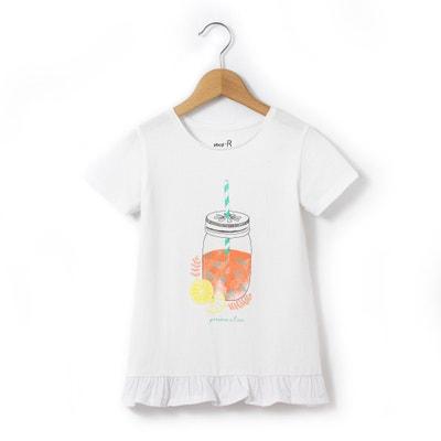 T-shirt fantasia e volant 3-12 anni T-shirt fantasia e volant 3-12 anni La Redoute Collections