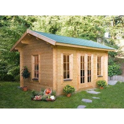 """Abri jardin bois """"Lugano 2"""" - 15.96 m² - 4.20 x 3.80 x 2.96 m - 45 mm Abri jardin bois """"Lugano 2"""" - 15.96 m² - 4.20 x 3.80 x 2.96 m - 45 mm HABITAT ET JARDIN"""
