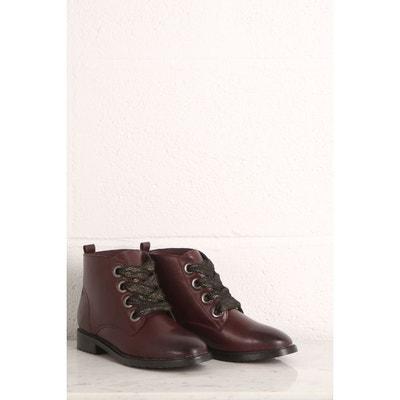 Boots montantes lacet brillant Boots montantes lacet brillant BONOBO 9dad2262fc2c
