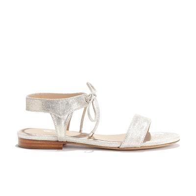 Sandales plates cuir LA CONQUISE BOBBIES